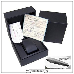 ツェッペリン ZEPPELIN 7546-3  ノルドスタン GMT ネイビー文字盤  ネイビー革ベルト クオーツ メンズ|flore|03