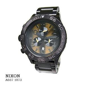 ニクソン 腕時計 NIXON 42-20 CHRONO TIGERSEYE A0371073  ブラウン文字盤 SSベルト クオーツ メンズ|flore
