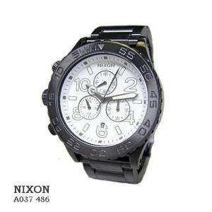 ニクソン 腕時計 NIXON 42-20 CHRONO A037486 GUNMETAL/WHITE  白文字盤 SSベルト クオーツ メンズ|flore