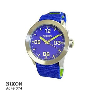 ニクソン 腕時計 NIXON  A049374  Rrivate Indigo  インディゴブルー文字盤 布ベルト クオーツ メンズ|flore