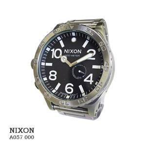 ニクソン 腕時計 NIXON 51-30  A057000 BLACK  ブラック文字盤 SSベルト クオーツ メンズ|flore