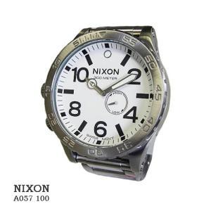 ニクソン 腕時計 NIXON 51-30  A057100  WHITE  ホワイト文字盤 SSベルト クオーツ メンズ|flore