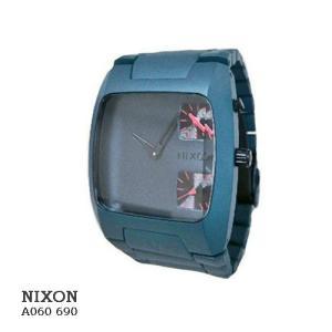 ニクソン 腕時計 NIXON BANKS A060690 GUNSHIP ダークグレー文字盤  クオーツ メンズ|flore