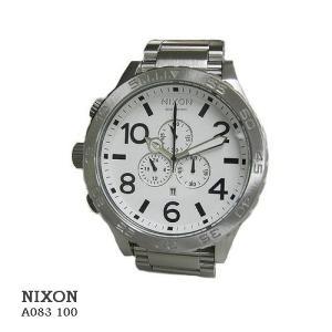 ニクソン 腕時計 NIXON  51-30 Chrono  A083100   ホワイト文字盤  SSベルト クオーツ メンズ|flore