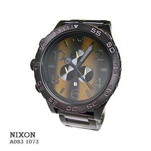 ニクソン 腕時計 NIXON 51-30 CHRONO TIGERSEYE A0831073  ブラウン文字盤 SSベルト クオーツ メンズ|flore