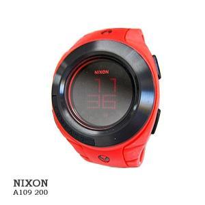 ニクソン 腕時計 NIXON A109200 OUTSIDER RED  デジタルブラック文字盤  ボリカーボネイト クオーツ メンズ|flore