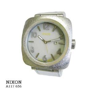 ニクソン 腕時計 NIXON  A117656  VOLTA  BONE   ソーラ  グレー文字盤  グレー革ベルト メンズ|flore