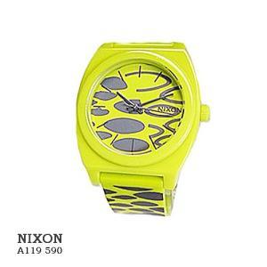 ニクソン 腕時計 NIXON  A119590  TIME TELLER P  CITROW WILDSIDE  イエロー文字盤  イエロー革ベルト クオーツ ボーイズ  |flore