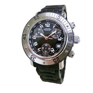 エルメス 腕時計 HERMES クリッパー  クロノ  ダイバー  黒文字盤 黒ラバーベルト クオーツ  レディース|flore