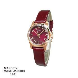 マーク バイ マーク ジェイコブス 腕時計 MARC BY MARK JACOBS  MBM1281 エンジ文字盤 クオーツ レディース|flore