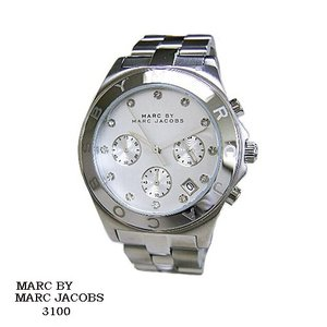 マーク バイ マーク ジェイコブス 腕時計 MARC BY MARK JACOBS  MBM3100  クロノ  シルバー文字盤  SSベルト クオーツ  メンズ|flore