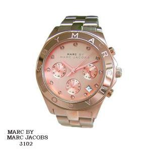 マーク バイ マーク ジェイコブス 腕時計 MARC BY MARK JACOBS  MBM3102  クロノ  ピンクゴールド文字盤   SSベルト クオーツ  メンズ|flore