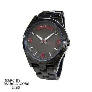 マーク バイ マーク ジェイコブス 腕時計 MARC BY MARK JACOBS  MBM3165  黒文字盤   SSベルト クオーツ  メンズ|flore