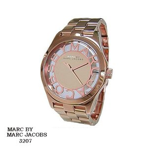 マーク バイ マーク ジェイコブス 腕時計 MARC BY MARK JACOBS  MBM3207  ミラー文字盤 スケルトン SSベルト クオーツ  メンズ|flore
