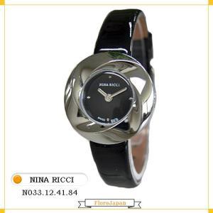 ニナリッチ NINA RICCI レディース腕時計 N033.12.41.84  ブラック文字盤  ブラック革ベルト クオーツ|flore