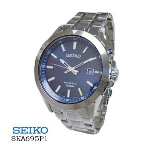 セイコー SEIKO  SKA695P1  キネティック デイト  オートクオーツ ブルー文字盤  メンズ|flore