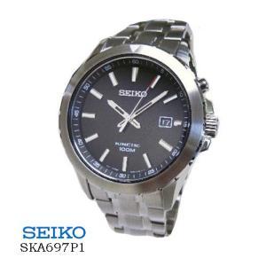 セイコー SEIKO  SKA697P1  キネティック デイト  オートクオーツ 黒文字盤  メンズ|flore