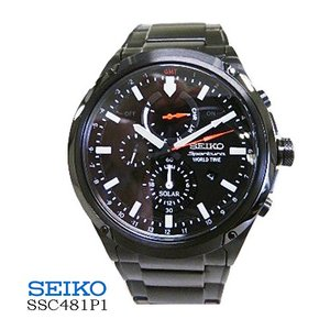 セイコー SEIKO SSC481P1 プロスペック  ソーラ  クロノ GMT  黒文字盤  SSベルト  メンズ|flore