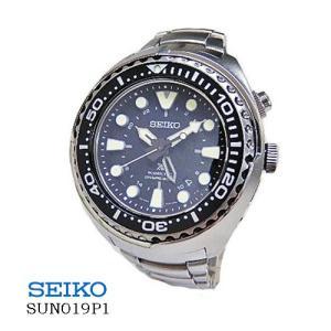 セイコー SEIKO SUN019P1 キネティック  GMT ダイバー200m 黒文字盤  SSベルト メンズ|flore