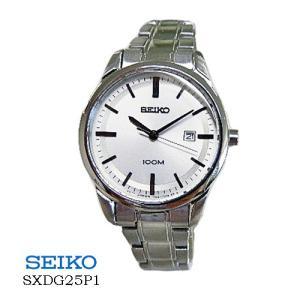 セイコー SEIKO  SXDG25P1  レディース シルバー文字盤  SSベルト クオーツ|flore