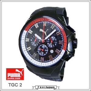 プーマ 腕時計  PUMA  TGC2  クロノグラフ  ブラック文字盤 ブラックラバーベルト  クオーツ メンズ...