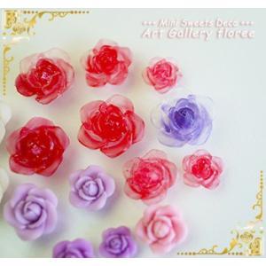 Lovely Flower フラワー立体型バラ 組み付け台付き(シリコーン型)|floree|05
