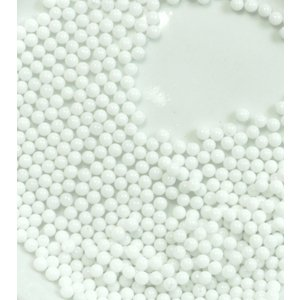 カラービーズ ホワイト 1.8mm玉(穴なし10g)|floree