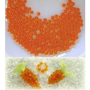 カラービーズ オレンジ 1.8mm玉(穴なし10g)|floree