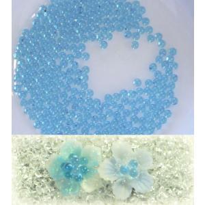 カラービーズ ブルー 1.8mm玉(穴なし10g)|floree
