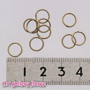 ◆丸カン 金古美外径8mm(約20個1.5g入り)|floree