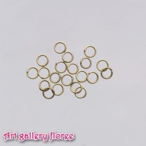 ◆丸カン 金古美外径5mm(約22個1g入り)|floree