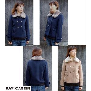 Ray Cassin レイカズン/ファー付ピーコート[Pコート]|flossy|02