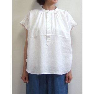 D.M.G ドミンゴ DMG 16-590V 31-3 スタンドシャツ 5ozリネンキャンバス ホワイト 麻 リネン flossy