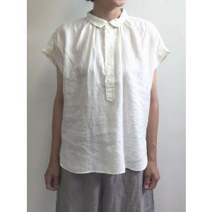 D.M.G ドミンゴ DMG 16-642L 31-3 S/Sレギュラーカラーシャツ ホワイト フレンチリネン リネンキャンバス シャツ 麻 MadeinJAPAN 日本製|flossy