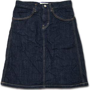 D.M.G[ドミンゴDMG]/17-215D/ワイドポケットデニムスカート|flossy