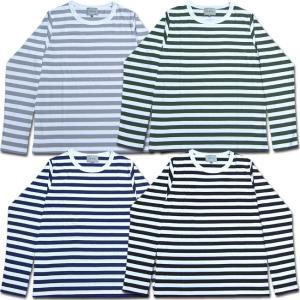メール便可 D.M.G ドミンゴ DMG 19-021N オリジナルボーダーロングTEE ロンT ボーダー Tシャツ カットソー 長袖 MadeinJAPAN 日本製|flossy