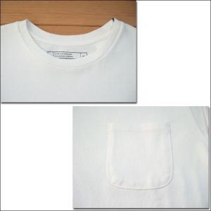 m.m.o. ポケット付バスクシャツ ホワイト バスクTシャツ カットソー Tシャツ ロンT TEE 無地 長袖|flossy|02