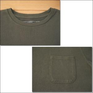 m.m.o. ポケット付バスクシャツ カーキグリーン バスクTシャツ カットソー Tシャツ ロンT TEE 無地 長袖|flossy|02