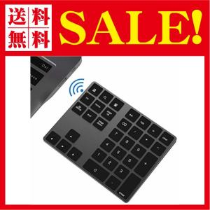 ワイヤレス テンキー キーボード Macbook android Windows ノートパソコンに適応 Bluetooth キーボード (ブラック) flow1
