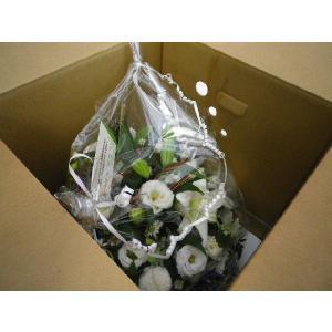 フラワーアレンジメント おまかせ お悔やみ お供え 供え花 カゴ花 お盆 お彼岸 法事|flower-8729|02