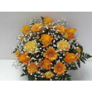 フラワーアレンジメント おまかせ フラワーギフト 花カゴ フラワーアレンジ|flower-8729