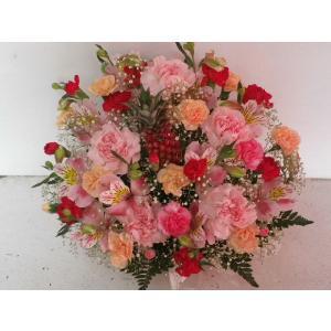フラワーアレンジメント おまかせ フラワーギフト 花カゴ フラワーアレンジ|flower-8729|05