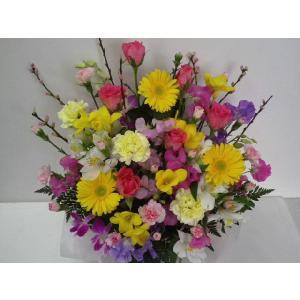 フラワーアレンジメント おまかせ フラワーギフト 花カゴ フラワーアレンジ|flower-8729|06