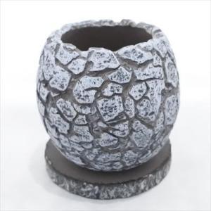 資 GA022-120 ブラック&シルバー 陶器 鉢 植木鉢 和風 インテリア 多肉植物 おしゃれ|flower-net