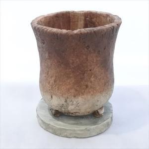 資 GA030-135 ブラウンツートン 陶器 鉢 植木鉢 和風 インテリア 多肉植物 おしゃれ|flower-net