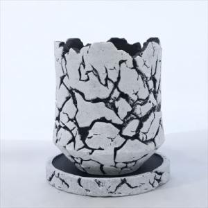 資 GA025-120WH ホワイトクラシック 陶器 鉢 植木鉢 和風 インテリア 多肉植物 おしゃれ|flower-net
