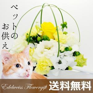 ペット お供え 花 アレンジメント ペット メモリアルアレン...
