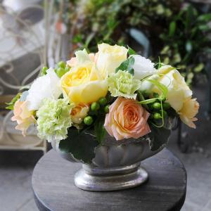 お見舞い 花 アレンジメント 黄色 ハッピーイエロー flower