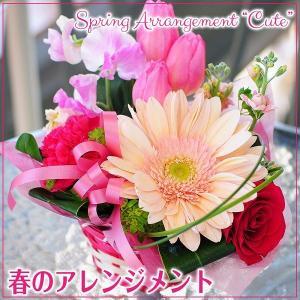 春のアレンジメント キュート アレンジメント 誕生日の花 バレンタイン花 フラワーバレンタイン