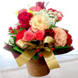 赤いバラ レッドローズ アレンジメント ミラクルルージュ 生花 プレゼント誕生日|flower